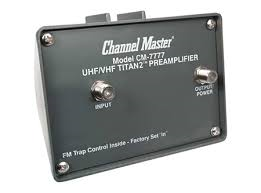 Channel Master 7777 CM-7777 Titian 2 Preamplifier to boast your HDTV Antenna signals both UHF VHF High gain OTA Amplifier