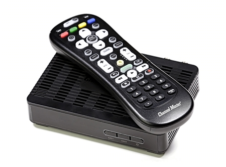 Channel Master 7004 converter box with HDMI to maintain HD quaility as well as coax for older style analouge TV